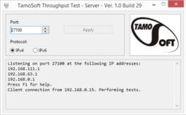 Throughput Test van Tamosoft