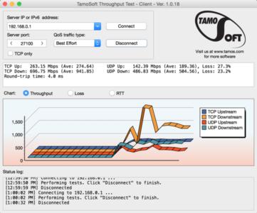 Throughput Test - Screenshot 2